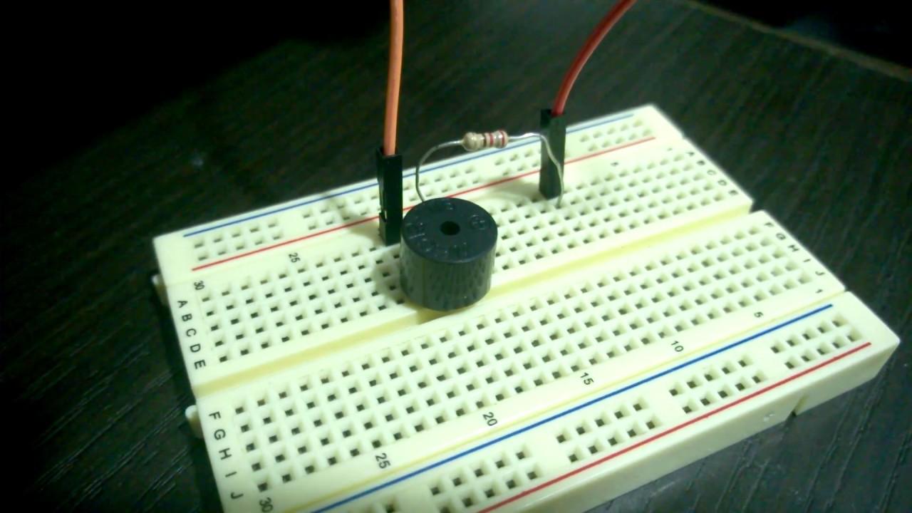 Circuito Zumbador Piezoelectrico : Zumbador o buzzer con arduino código youtube
