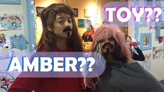 AMBER & TOY IN DISGUISE IN HONGDAE (with JOEL)