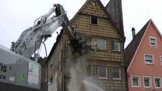 Abriss Haus Ledergasse 36 in Schwäbisch Gmünd