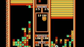 Tetris 2 - Vs. CPU - Hard, level 15 - User video