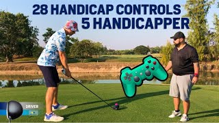 HIGH handicap Guides LOW handicapper for 9 holes Video Game Golf