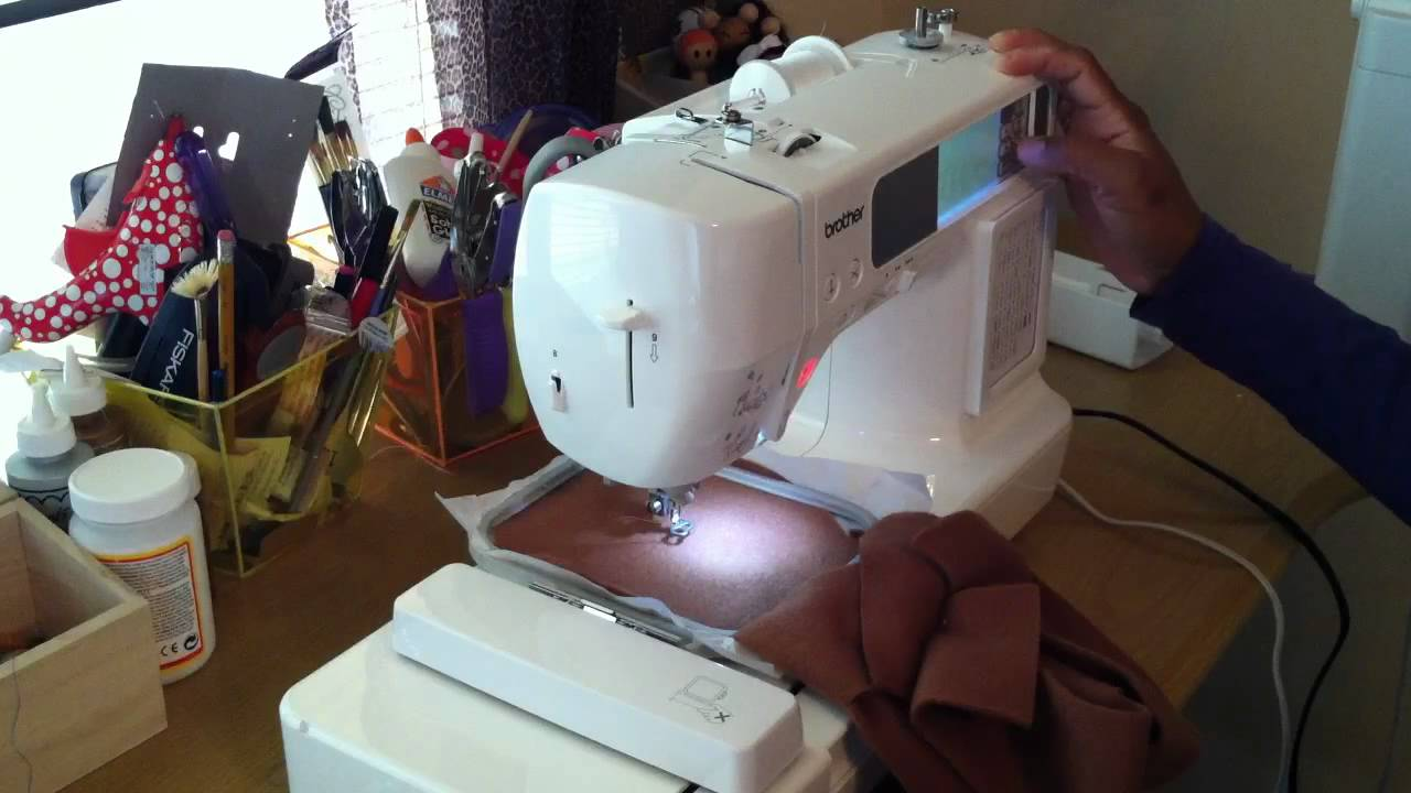 Machine Embroider Doll Face Youtube