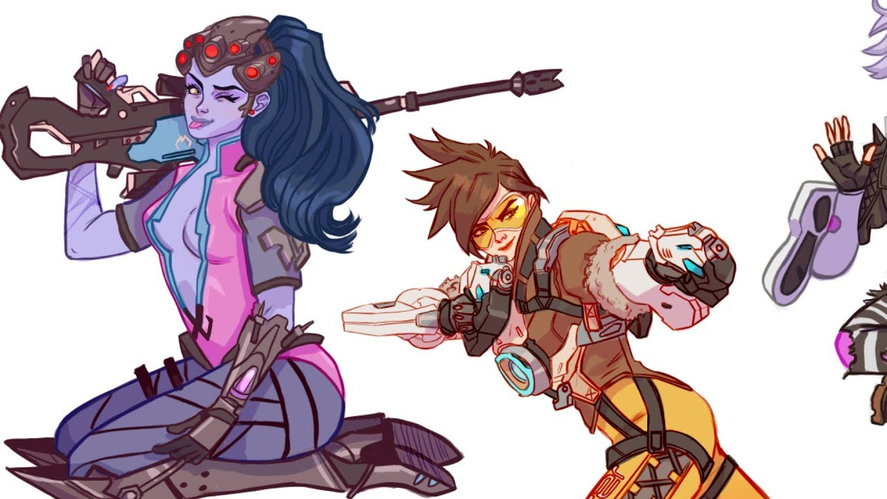 drawing widow maker overwatch stickers youtube