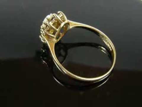 VINTAGE 9 CARAT GOLD GARNET & OPAL DRESS RING FULL HALLMARKS & DATE MARKS