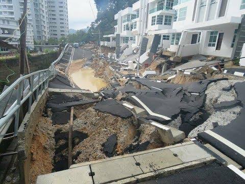 Visual banjir kilat, tanah runtuh di Pulau Pinang