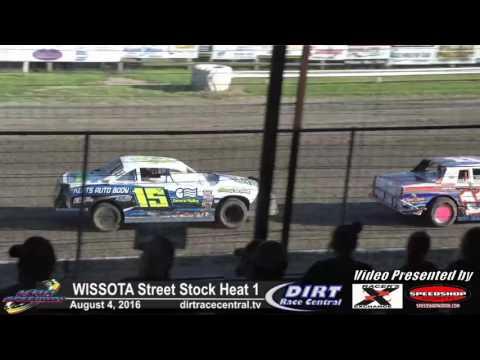 KRA Speedway 8/4/16 WISSOTA Street Stock Heat Race 1