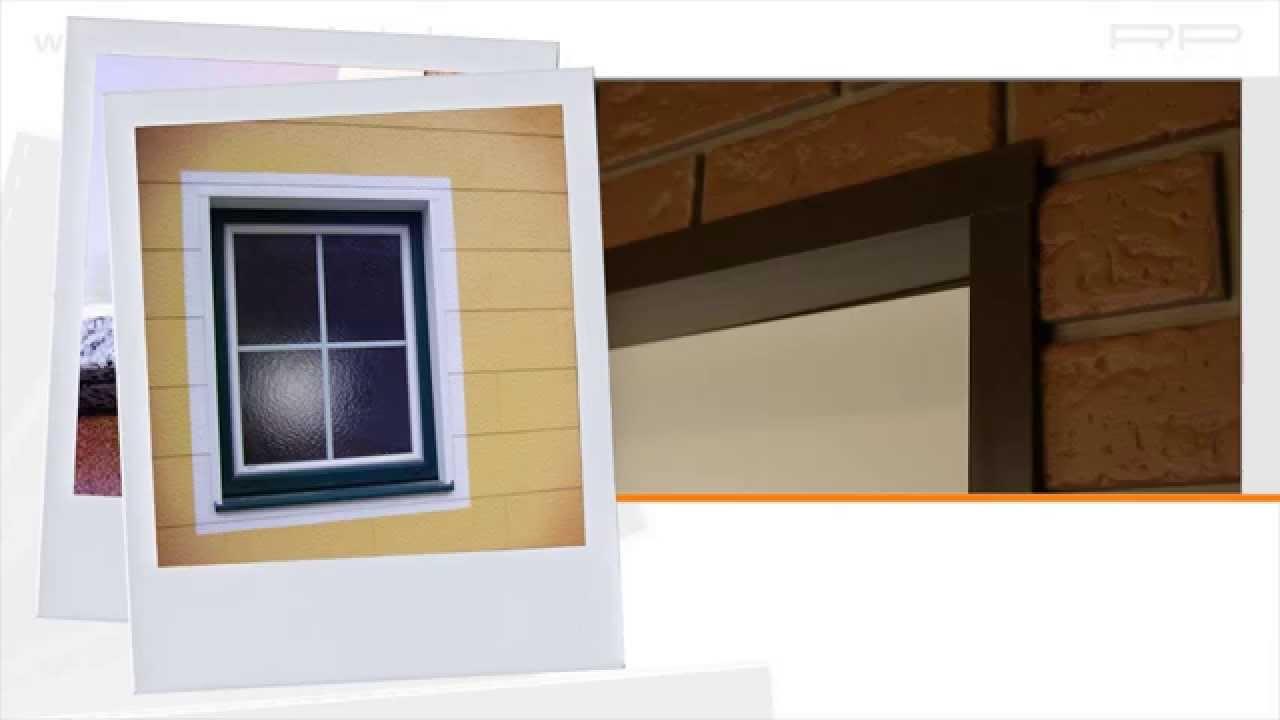 laibung einer fassadenverkleidung mit protektor wineklprofil youtube. Black Bedroom Furniture Sets. Home Design Ideas