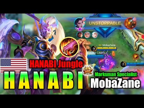 HANABI JUNGLE!! Best Build and Rotation By Mobazane !| MLBB