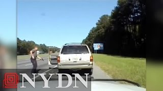 Dashcam captures Georgia cop shooting wanted crook