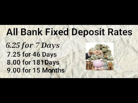 All Bank Fixed Deposit Rates