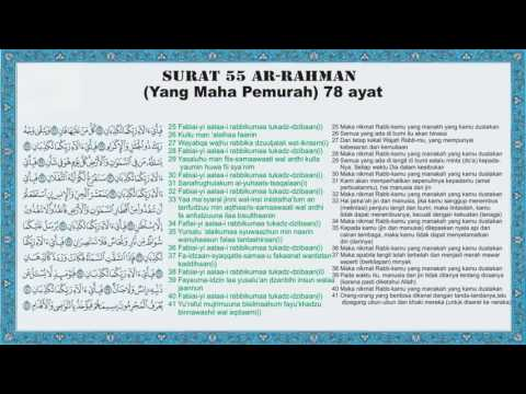 Al Quran Surat 55 Ar Rahman Arab Latin Dan Terjemahan
