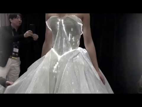 Zac Posen - Fiber Optic Woven Organza Dress #AdobeMAX