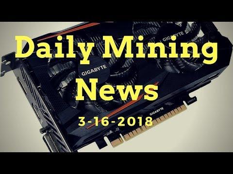 Daily Mining news 3-16-18 ( Nvidia Mining Card Release )