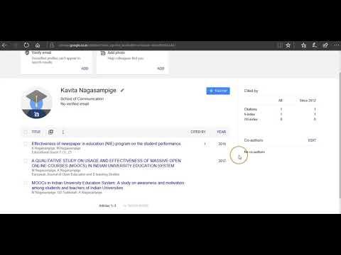 How to create Google Scholar Account