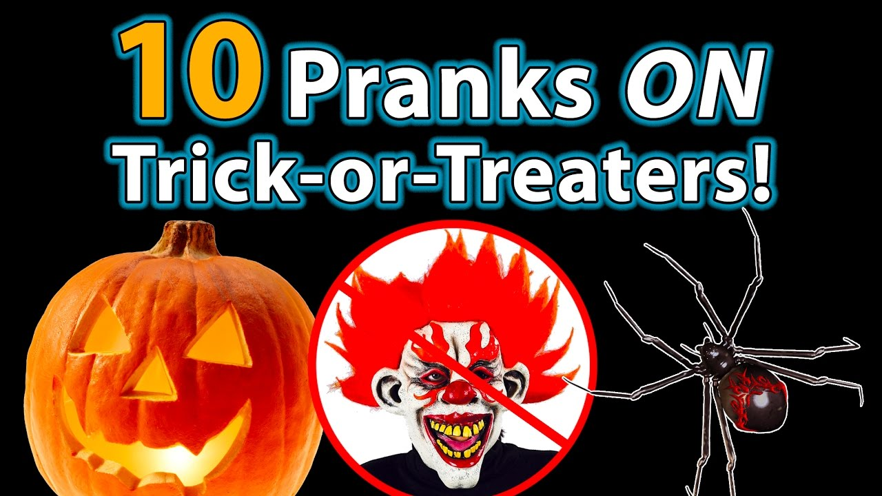 10 top halloween pranks on trick-or-treaters!! - youtube