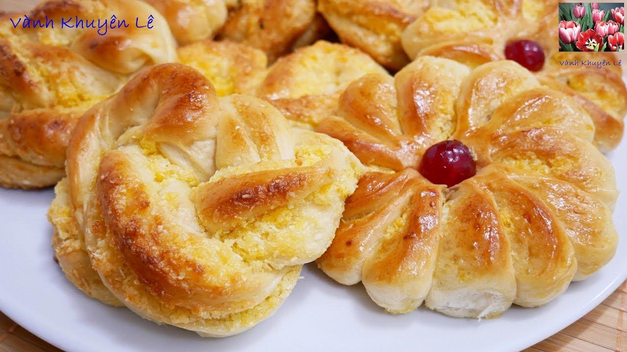 BÁNH MÌ SỮA DỪA – Cách làm và tạo hình Bánh Mì ngọt Sữa Dừa mềm mịn thơm lừng by Vanh Khuyen