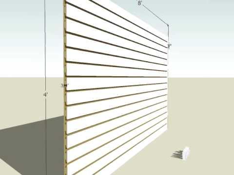 White Melamine Slatwall Panels
