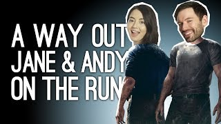 A Way Out Gameplay: JANE AND ANDY ON THE RUN! - Let's Play A Way Out Pt. 2