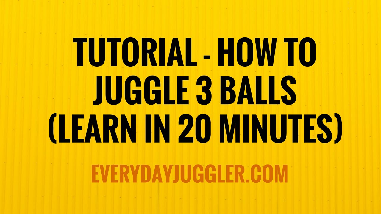 Learn How to Juggle – the Juggle Practice Toss With Two Balls