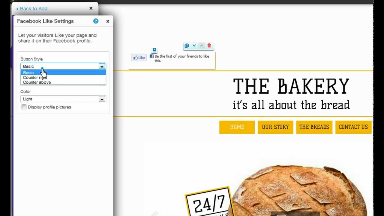 HTML Website Builder | Adding a Facebook Like Button to your Wix ...