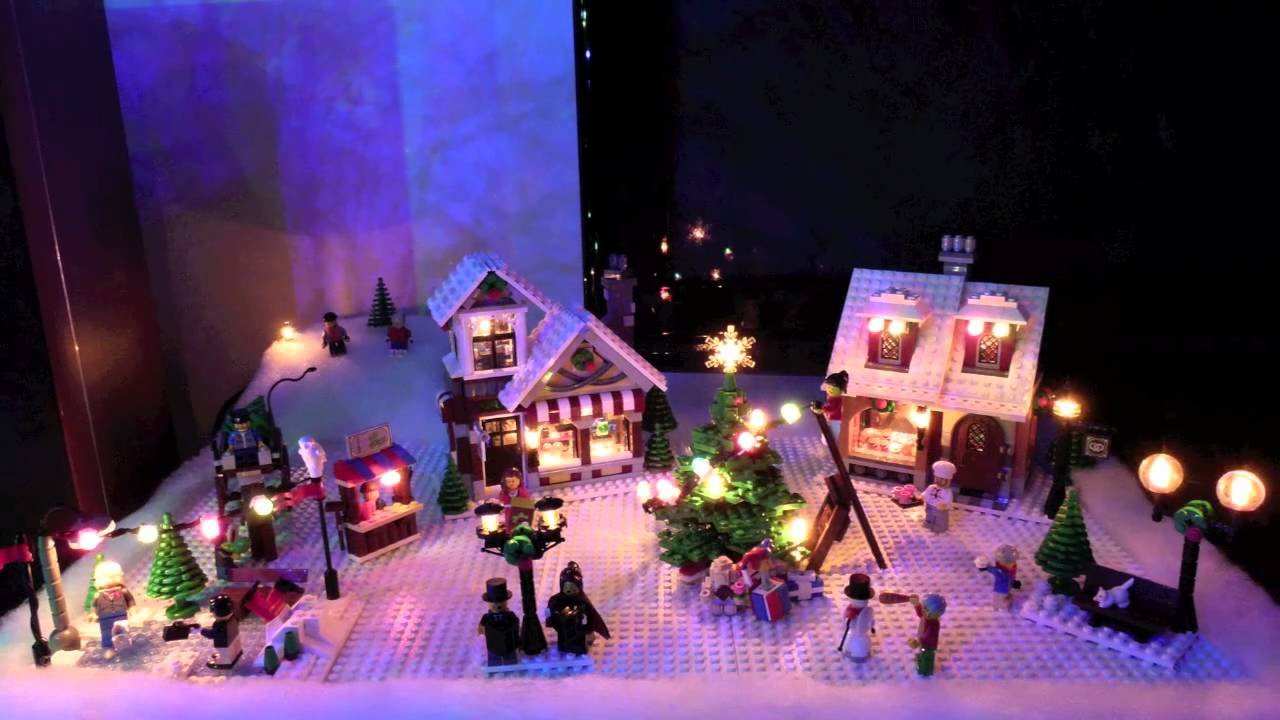 seasons greetings from lego christmas village youtube - Lights For Christmas Village