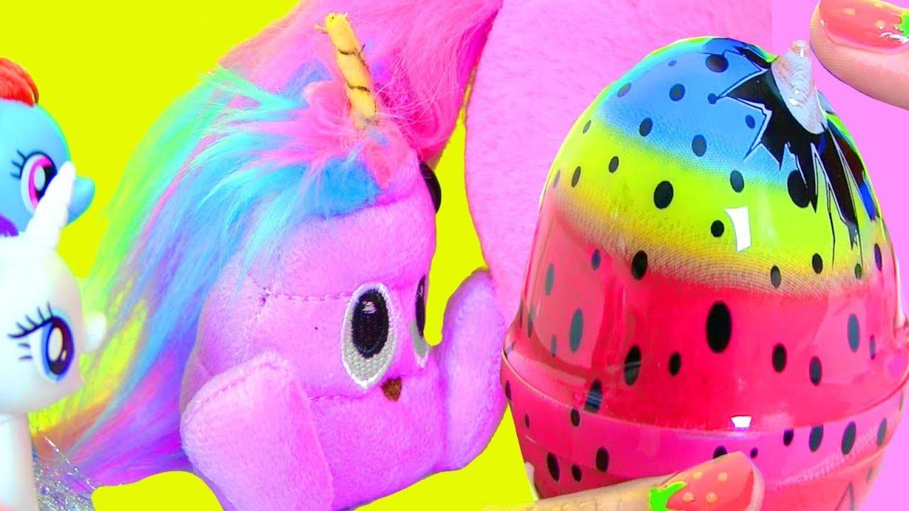 UNICORN POOP КАКАШКА ИЛИ ЕДИНОРОГ? Май Литл Пони Мультик MLP Видео для Детей #Сюрпризы #Игрушки
