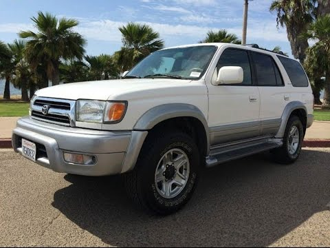 1999 toyota 4runner limited 3rd gen 2wd white full leather clean title walk around for. Black Bedroom Furniture Sets. Home Design Ideas