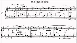 RCM Piano 2015 Grade 4 List C No.1 Tchaikovsky Old French Song Op.39 No.16 Sheet Music