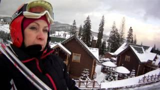 Карпаты.Буковель.Катание на горных лыжах.Красные спуски.(, 2016-02-10T15:48:54.000Z)