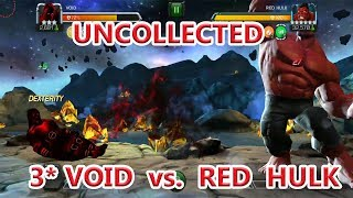 HOW TO BEAT RED HULK UNCOLLECTED (this man ..this  monster event quest )marvel contest of champion