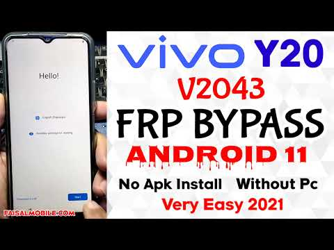 Vivo Y20 Frp Bypass Without Pc Android 11 No Apk New Method Very Easy