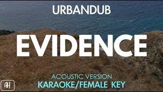 Urbandub Evidence Karaoke Acoustic Instrumental Female Key