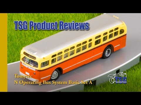 N Scale Operating Bus System Tomytec Product Review