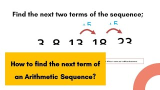 How to find the next term of an Arithmetic Sequence | LMT101