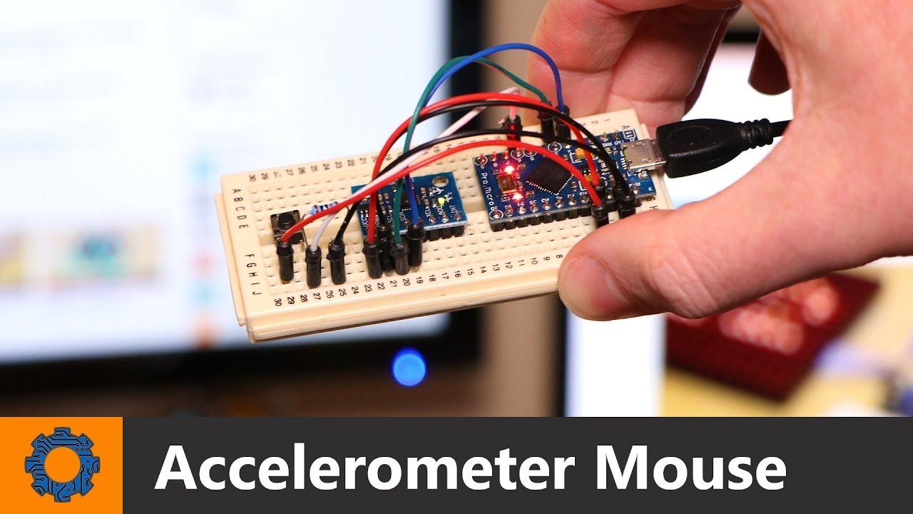 Arduino accelerometer mouse youtube