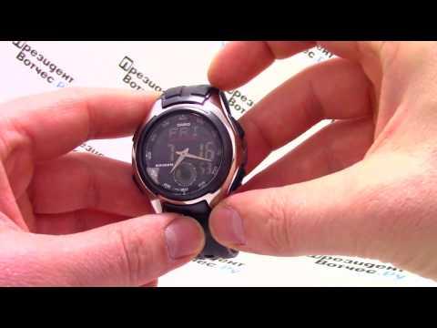Часы Casio Illuminator AQ-160W-1B [AQ-160W-1BVEF] - Видео обзор от PresidentWatches.Ru