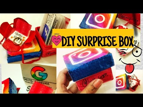 DIY SURPRISE/VALENTINE'S DAY PROPOSE BOX Craft-GIFT IDEA- INSTAGRAM ICON BOX/propose For Marriage