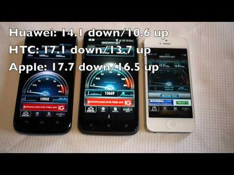 EE 4G LTE speedtests: iPhone 5, HTC One XL, Huawei Ascend P1 LTE