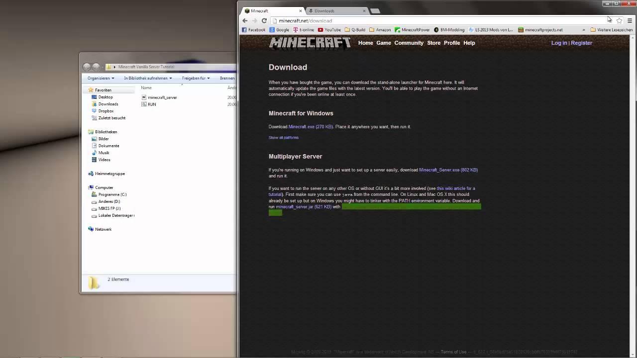Minecraft Tutorial Vanilla Server Erstellen DeutschHD YouTube - Minecraft server erstellen vanilla