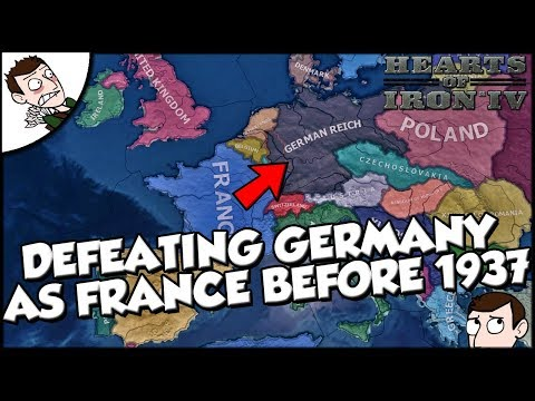 Defeating Germany as France Before 1937 on Hearts of Iron 4 hoi4
