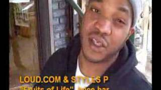 Styles P - Talks Eating Healthy - Fruits of Life - Juice Bar - Video