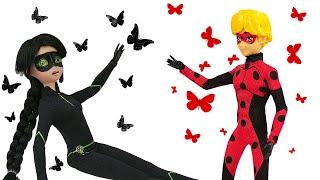 Леди Баг и Супер-Кот на фотосессии. Сейчас вылетит… бабочка! Новое видео про куклы для девочек