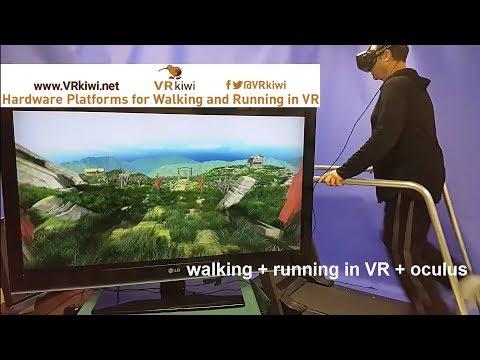 Walking and Running in Virtual Reality using Oculus + VR kiwi platform solution