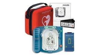 Philips OnSite HeartStart AED defibrillator demonstration video