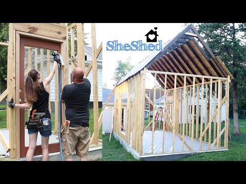 DIY She Shed! 🏡 | Roof,  Doors, & Windows