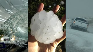 Hail Storm Freaks of Nature \u0026 largest hail stone ever recorded recreation
