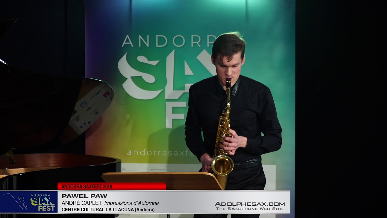 Andorra SaxFest 2019 1st Round   Pawel Paw   Impressions d´Automne by Andre Caplet