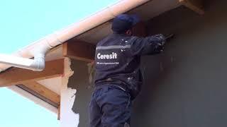 Как правильно делается базовый армирующий слой из клея и фасадной стеклотканевой сетки