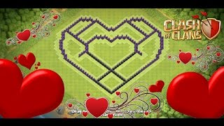 Clash of Clans - Town Hall 8 (TH8) Hybrid Base - TH 8 Heart Base 2016