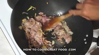 Goat or Lamb & Mushroom Recipe -  Asian Stir Fry Wok